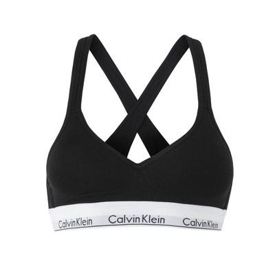 Brassière de sport siglée Calvin Klein Performance noir