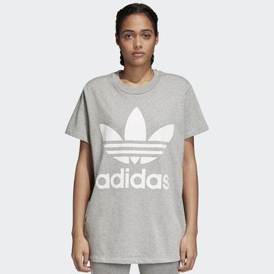 T-shirt scollo rotondo maniche corte fantasia davanti Adidas originals