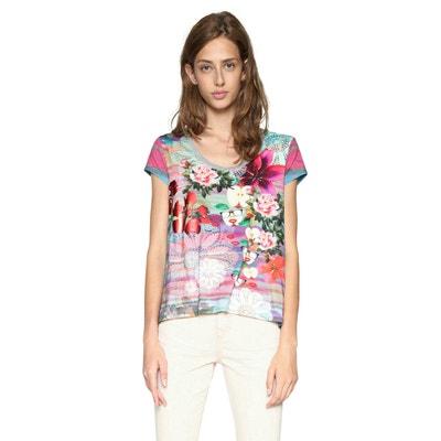 T-Shirt mit Blumenmuster, runder Ausschnittt DESIGUAL