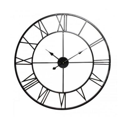 Horloge horloge murale design la redoute for Horloge en fer forge noir