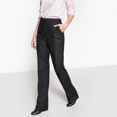 "High-Waisted Tweed Trousers, Length 33.5"" High-Waisted Tweed Trousers, Length 33.5"" La Redoute Collections"