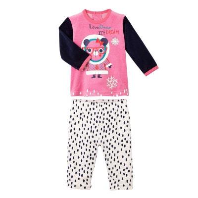 f86e58c97a704 Pyjama bébé 2 pièces velours Loveliness Pyjama bébé 2 pièces velours  Loveliness PETIT BEGUIN