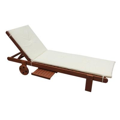 coussin pour bain de soleil en bois exotique coussin pour bain de soleil en bois exotique habitat et jardin - Transat De Jardin