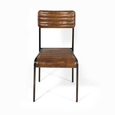 Chaise industrielle en solde la redoute - Chaise style industrielle ...