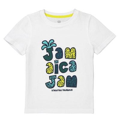 Camiseta estampada con cuello redondo 3-12 años La Redoute Collections