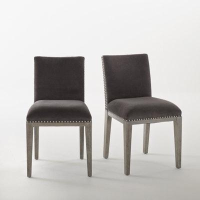 Cadeira em veludo capitonné, lote de 2, Eulali La Redoute Interieurs