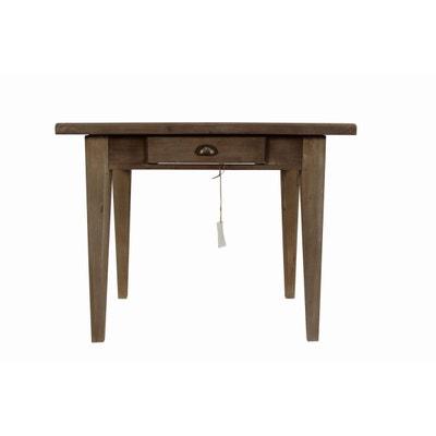TABLE BOIS 2 TIROIRS 100.5x72.5x78cm TABLE BOIS 2 TIROIRS 100.5x72.5x78cm DECORATION D'AUTREFOIS