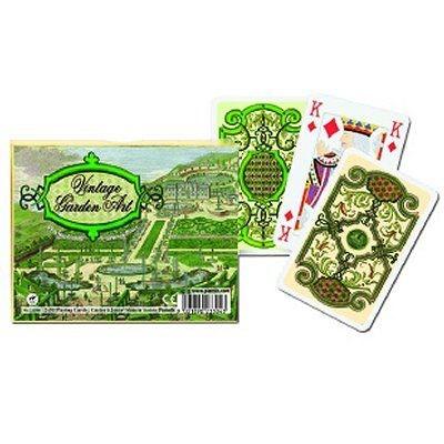Jeu de cartes : Coffret de 2 x 55 cartes : L'art des anciens jardins PIATNIK