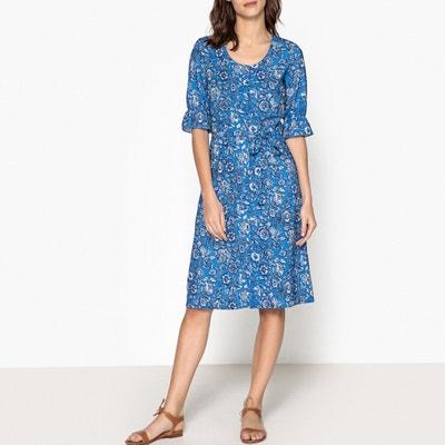 Bedrucktes Kleid mit Knöpfen RICK LEON and HARPER