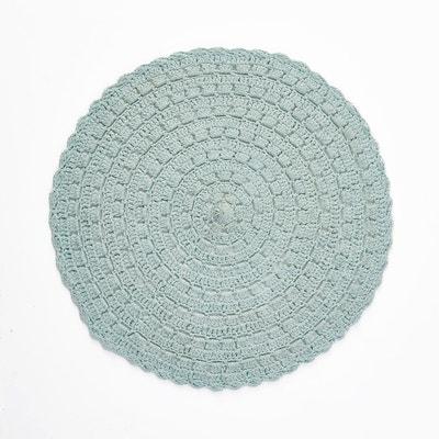 Wiku Round 100% Cotton Crochet Rug Wiku Round 100% Cotton Crochet Rug La Redoute Interieurs