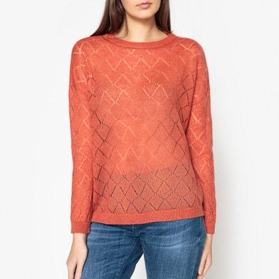 Pullover mit rundem Ausschnitt, Feinstrick mit Ajourmuster Pullover mit rundem Ausschnitt, Feinstrick mit Ajourmuster MARIE SIXTINE