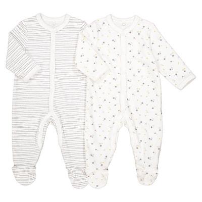 Pyjama rayé et étoiles, lot de 2, préma - 3 ans Pyjama rayé et étoiles, lot de 2, préma - 3 ans La Redoute Collections