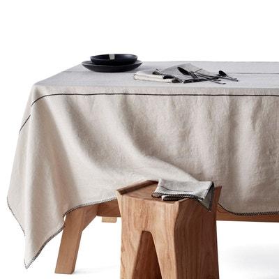 nappe en lin gris anthracite en solde la redoute. Black Bedroom Furniture Sets. Home Design Ideas