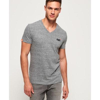 b89573f461bdd T-shirt col v manches courtes ORANGE LABEL VINTAGE SUPERDRY