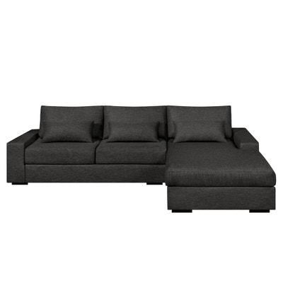 Canapé d'angle convertible Neige, toile chinée AM.PM