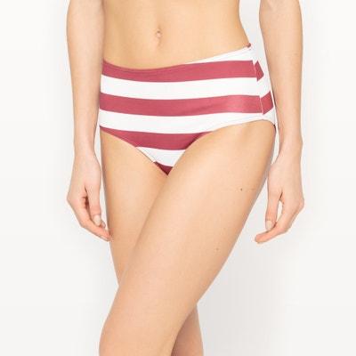 Shaping Striped Bikini Bottoms La Redoute Collections