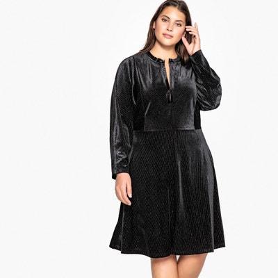 Metallic Velour Midi Dress Metallic Velour Midi Dress CASTALUNA PLUS SIZE
