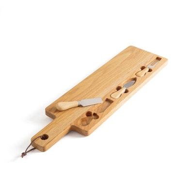 Set planche et couteaux à fromage en chêne PEPSAL Set planche et couteaux à fromage en chêne PEPSAL LA REDOUTE INTERIEURS