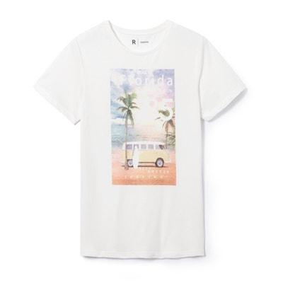 T-shirt scollo rotondo La Redoute Collections