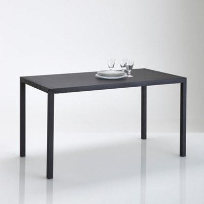 Table repas métal noir mat 4 couverts, Hiba Table repas métal noir mat 4 couverts, Hiba LA REDOUTE INTERIEURS