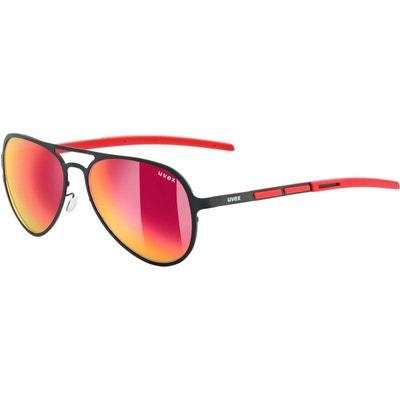 LGL 30 Pola - Lunettes cyclisme - rouge noir UVEX c1e3478e4890