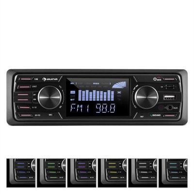 "auna MD-350BT Autoradio Deckless BT USB SD MP3 4x45 w max 3"" LCD AUX Télécommande auna MD-350BT Autoradio Deckless BT USB SD MP3 4x45 w max 3"" LCD AUX Télécommande AUNA"