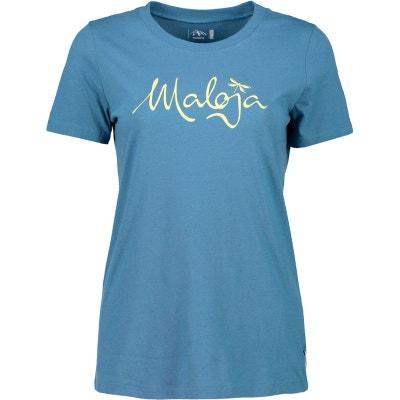 ef16e2357424 T-shirt manches courtes Femme - bleu MALOJA
