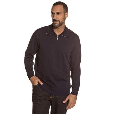Sweatshirt with High Zipped Neck JP1880