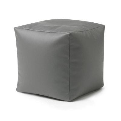 Pouf Poire Cube en Faux Cuir - Tabouret Pouf Poire Cube en Faux Cuir - Tabouret BEAN BAG BAZAAR