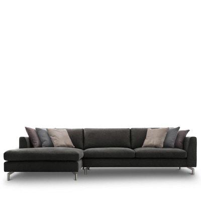 Canapé d'angle gauche en tissu Linate DRAWER