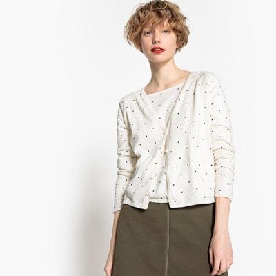 Sweter w groszki z dekoltem kształcie V Sweter w groszki z dekoltem kształcie V MADEMOISELLE R