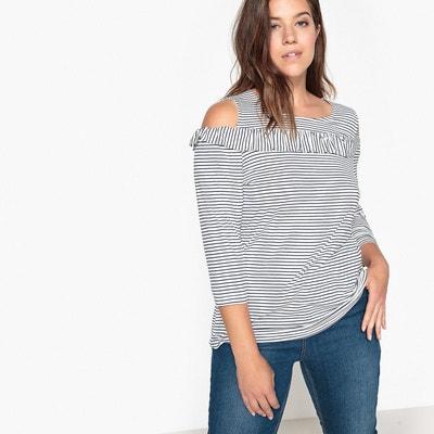 Tee-shirt volanté épaules dénudées CASTALUNA