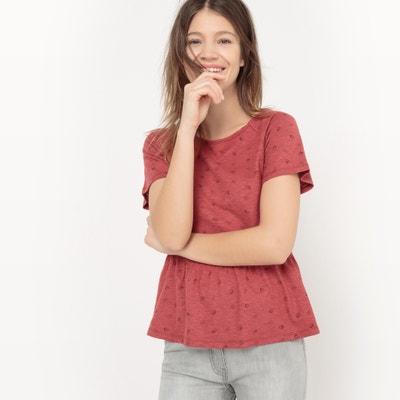 T-shirt scollo rotondo, fantasia La Redoute Collections