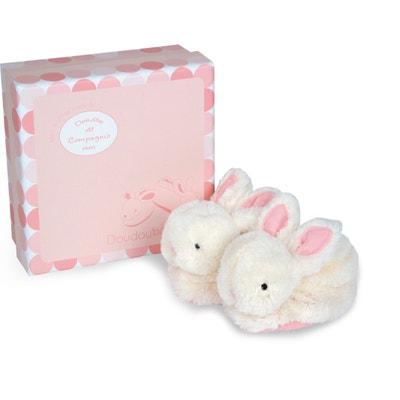 Caixa com pantufas com guizo cor-de-rosa, 0-6 meses - Lapi Caixa com pantufas com guizo cor-de-rosa, 0-6 meses - Lapi DOUDOU ET COMPAGNIE