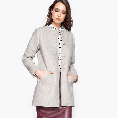 Manteau mi-saison sans col avec détail bijou Manteau mi-saison sans col avec détail bijou MADEMOISELLE R