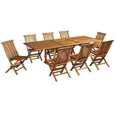salon de jardin en teck huil pour 8 personnes 180 240cm wood en stock - Salon De Jardin Teck