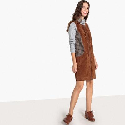 Robe bi matière, en cuir et jacquard Robe bi matière, en cuir et jacquard LA REDOUTE COLLECTIONS