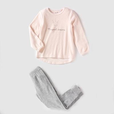 Pyjama in fluweel La Redoute Collections