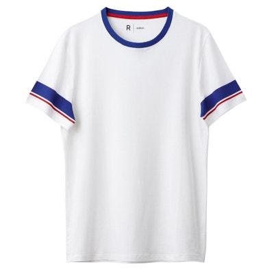Camiseta estampada con rayas en las mangas Oeko Tex Camiseta estampada con rayas en las mangas Oeko Tex La Redoute Collections