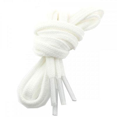 lacets plats coton couleur Blanc LES LACETS FRANCAIS