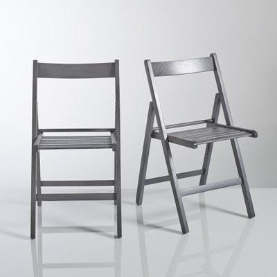2 складных стула из массива бука Yann Мини-цена