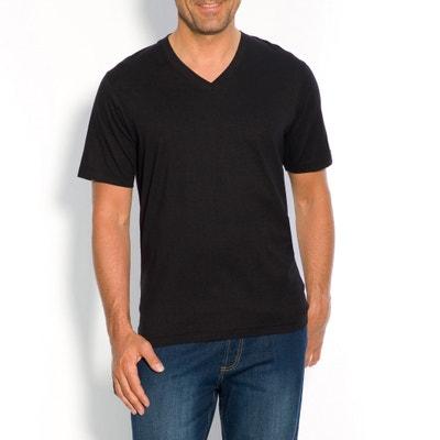 V-Neck Short-Sleeved Cotton T-Shirt CASTALUNA FOR MEN