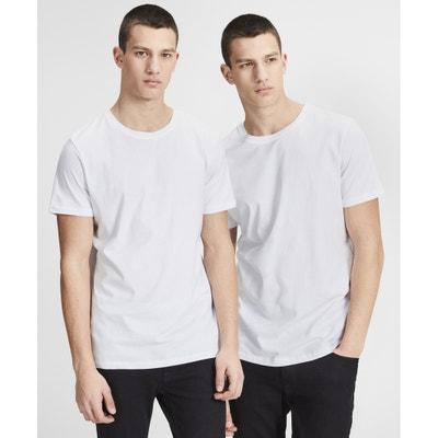 T-shirt, okrągły dekolt, krótki rękaw, 2 szt. JACK & JONES