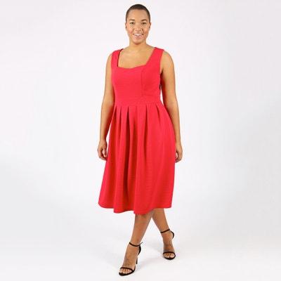 Pleated Midi Dress LOVEDROBE