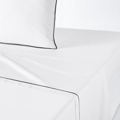PAVONE Washed Cotton Satin Flat Sheet PAVONE Washed Cotton Satin Flat Sheet La Redoute Interieurs
