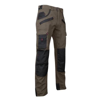 Pantalon de travail bicolore avec poches genouilléres TOURBE Pantalon de travail bicolore avec poches genouilléres TOURBE LMA