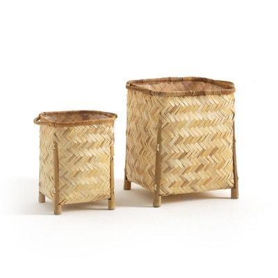 Paniers bambou sur pieds, lot de 2 BIUMA Paniers bambou sur pieds, lot de 2 BIUMA LA REDOUTE INTERIEURS