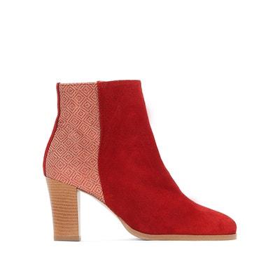 Boots cuir bi-matière La Redoute Collections