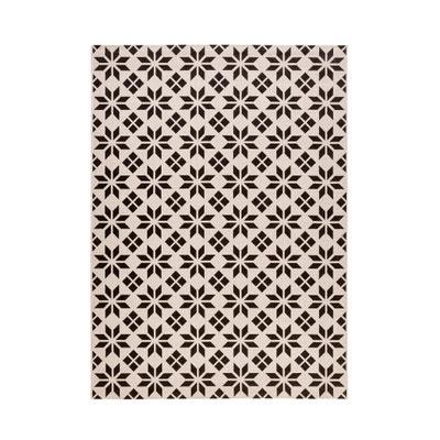 alfombra blanca y negra | la redoute
