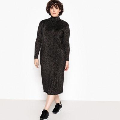 Robe pull longue maille brillante, manches longues CASTALUNA